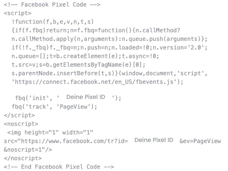 Facebook Pixel Basis Code