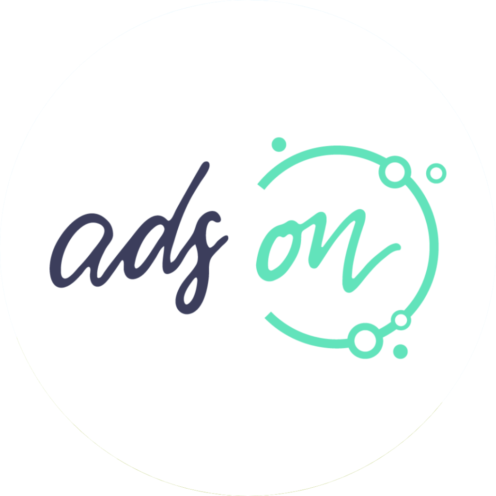 ads on logo im Kreis